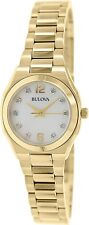 Bulova Women's Diamond Gallery 97P109 Gold Stainless-Steel Quartz Dress Watch