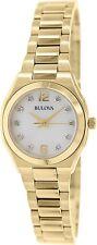 Bulova Women's Diamond Gallery 97P109 Gold Stainless-Steel Quartz Dress Watch