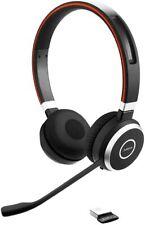 Jabra Evolve 65 MS Stereo Binaural Schwarz Headset Bluetooth USB Adapter