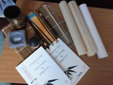 Oriental Painting/Calligraphy set, various items & 2 x Paintings, hand painted