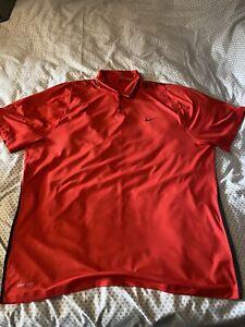 Mens Nike Tiger Woods Golf Tshirt/polo Xxl Used