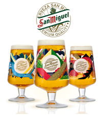 More details for san miguel 2020 limited edition chalice glass or beermats celebrating 130 years
