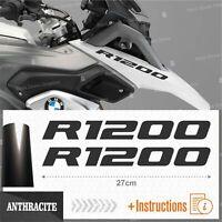 2x Adesivi Anthracite compatibile Moto BMW R 1200 GS LC R1200 ADVENTURE R1200GS