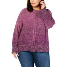 Style & Co Womens Top Purple Ombre Casual Pullover Sweater Plus Size 3X