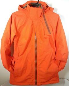 Burton AK 2L Gore-tex Sz Medium Jacket Orange Flame Scarlet Ski Snowboard Shell