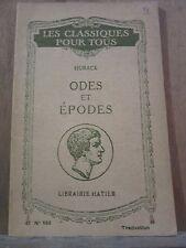 Horace: Odes et épodes/ Librairie Hatier, Les Classiques pour tous