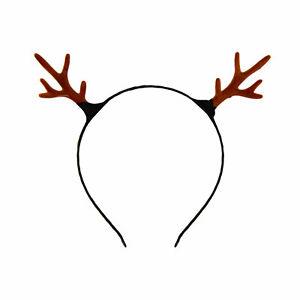 Haarreifen Rentier Hirsch Reh Geweih Haarreif in Braun für Weihnachten Fasching
