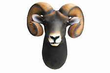 Faux Taxidermy - Ram Head Wall Mount - Fake Resin Ram Home Decor