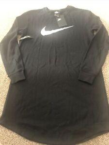 Ladies Nike Sweatshirt Dress Size S (10) Black Bnwt