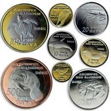Gambier Islands, set of 8 coins, Local Fauna, Sea Creatures, Birds, 2015