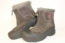 Columbia Men 7 40 Omni Heat Suede Leather Zip Front Winter Snow Boots BY1292-205