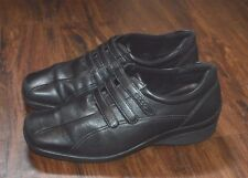 ECCO 'Abelone' Women's 3 Strap Eco-Tanned Black Leather Casual Shoes (Sz 7.5)