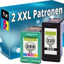 TINTE PATRONEN für HP 339+344 XL DeskJet 5740 6540 6940 6980 DRUCKER PATRONE