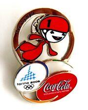 Pin Spilla Olimpiadi Torino 2006 - Coca-Cola Mascotte Short Track