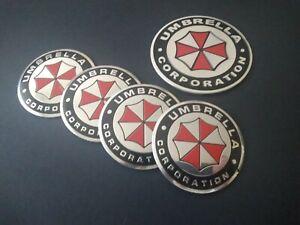 Umbrella Corporation 4x 3D Radnabenemblem+ 1 Emblem-selbsklebend-SET-NEU!