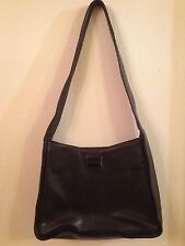BNWOT John Lewis Brown Leather Handbag, 4 inside compartments, 1 outside zipped