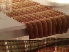"""Food Network Rust Chindi 13"""" X 72"""" Colorful Woven Table Runner"""