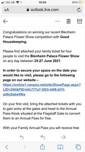 Tickets To Blenheim Palace Flower Show 2021 Worth Over £100