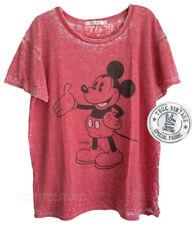 Junk Food Disney Mickey Burnout Tri-Blend Loose Fits Ex-Boyfriend Easy T-shirt