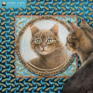 Ivory Cats by Lesley Anne Ivory - 2022 Square Wall Calendar