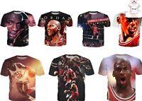 New Michael Jordan King NBA Basketball 3D T-Shirt Summer Tee Style Size S - 7XL