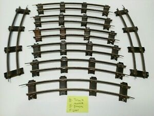 Vintage American Flyer S Gauge Train Track Lot- 8 Pieces - good condition