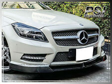 V Style Carbon Fiber Front Bumper Lip For 2012+ BENZ W218 CLS500 CLS550 w/ AMG