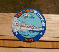 Hydro Pay 'N Pak Turbine 1981 Go Get 'Em Pakers! Metal Lapel Pin Pinback Button