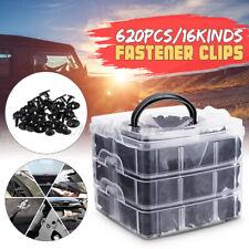 620PCS 16Kinds Universal Car Clips Bumper Door Trim Install Push Fastener Clips