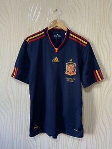 SPAIN 2010 2012 AWAY FOOTBALL SHIRT SOCCER JERSEY ADIDAS P47896 sz L WORLD CUP