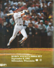 Robin Yount 3000th Hit Photo 8x10 MILWAUKEE BREWERS SEPT 9, 1992 MLB