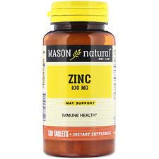 Mason Natural  Zinc  100 mg  100 Tablets