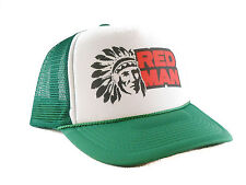 Red Man tobacco Trucker Hat mesh hat snapback hat green new adjustable