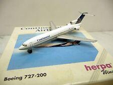 HERPA WINGS 503051 1:500 Boeing 727 - 200 Continental Airlines, dans NEUF dans sa boîte