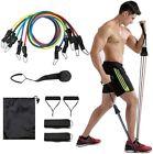 Bande de Résistance Fitness Elastiques Kit avec Poignées pour Pilates Yoga Gym