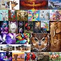 5D DIY Full Drill Diamond Painting Animals Cat Cross Stitch Craft Kit Home Decor
