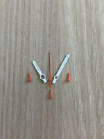ETA Valjoux 7750 NOS Style Zeigerset Weiss/Orange Chronograph Retro