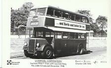 Bus Postcard - Liverpool Corporation - Leyland PD2/1 Titan No.L436  - 3025