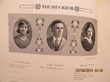 1924 Yearbook Shelbyville High School IN Grades 7-12 Basketball Team Makes State