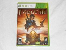 NEW Fable III XBox 360 Game SEALED Not For Resale RPG fabel 3 fabal US NTSC