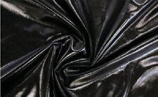 "Apparel Spandex Metallic Fabric / 60"" W / Sold by the yard - BLACK"