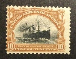 TDStamps: US Stamps Scott#299 Mint H OG Spot Thin