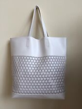 Saks Fifth Avenue Estee Lauder Large Beach Office Tote Bag NEW! FREE SHIP! White