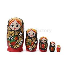 5PCS LOT WOODEN DOLLS MATRYOSHKA NESTING RUSSIAN BABUSHKA TOYS GIFT STRAWBERRY