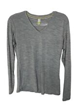 SmartWool Microweight Base Layer Top Merino Wool V-Neck Women's L