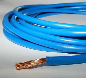 Aderleitung flexibel H07V-K 10mm² Verdrahtungsleitung Blau Einzelader