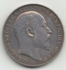 More details for very rare edward vii 1902 matt proof silver crown 5/- .