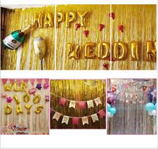 Flashing  Foil Fringe Curtain Tinsel Birthday Party Event Decor Wedding