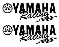 (2) WHITE Yamaha Racing Decal Sticker Motocross Jetski Waverunner yz r6 r1 mx yz