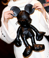 Disney Mickey Mouse Black PU Leather Plush Toy 35CM